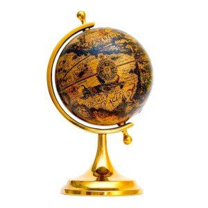Old style globe isolated on white background
